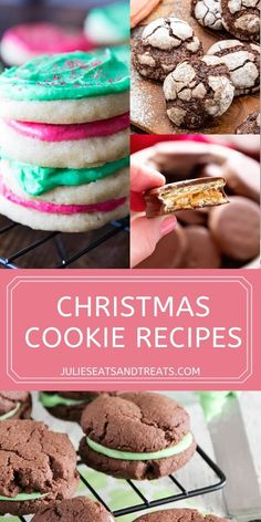 'Tis the season for cookies! I've rounded up my favorite Christmas Cookie recipes to use for cookie swaps, holiday parties and gifts. Everything from Molasses Cookies, Thumbprint Cookies, Peanut Butter Cup Cookies, Chocolate Crinkle Cookies and more. Grab a cookie and enjoy!