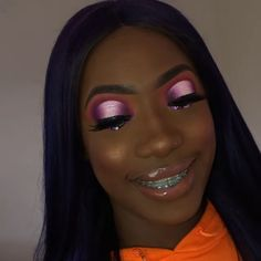 Gorgeous Makeup: Tips and Tricks With Eye Makeup and Eyeshadow – Makeup Design Ideas Black Girl Makeup, Girls Makeup, Glam Makeup, Makeup Inspo, Makeup Inspiration, Beauty Makeup, Eye Makeup, Hair Makeup, Hair Beauty