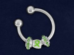 Lime Green Ribbon Key Chains. Each key chain is approximately 1 1/2 inches. Packaged 18 key chains per pack. Product Code: K-B47-9