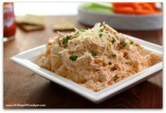 Instant Pot Buffalo Chicken Dip--A seriously addictive, 4-ingredient buffalo chicken dip made in your electric pressure cooker. A perfect party food!