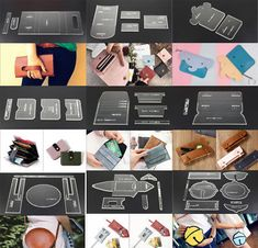 & item just a Acrylic Board Tool,not the wallet and other accessories& Design in international standard, suitable for any personal DIY or professional. Diy Leather Craft Tools, Diy Crafts Tools, Simple Wallet, Long Wallet, Mini Car, Leather Wallet Pattern, Backpack Pattern, Diy Handbag, Handbag Patterns