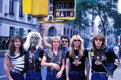Iron Maiden in New York – Killers World Tour 1981Steve Harris, Eddie The Head, Adrian Smith, Paul DiAnno, Dave Murray and Clive Burr