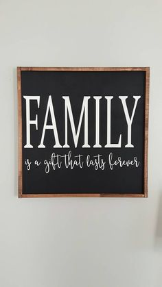 Family Sign  Home sign  Wood Sign  Wooden by ThriftyTreasures01