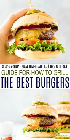 Learn How to Grill the Best Burgers out there with this easy ultimate burger grilling guide. Everything you need to know - the best meat for burgers, how to shape, how to season and how long to cook. Change up your burger game this summer! #ongasgrill #patties #easy #grilling #beef #bbq #cookout Best Meat For Burgers, Good Burger, Best Burger Recipe, How To Cook Burgers, Burger Recipes, Grilling Recipes, Burger Games, Healthy Eating Recipes