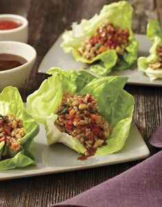 Chicken Lettuce Cups, 200 calories