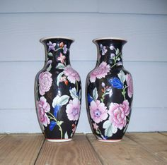 Pair of Vintage Chinese Porcelain Vases by FairfaxDavis on Etsy, $50.00