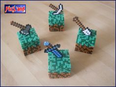 Boite déco Minecraft unitaire en perle Hama MiDi