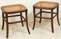 Pair of Thonet Stools Denmark 1960