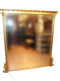 A superb quality antique gilded overmantle mirror.The mirror has classic signs of the Arts & crafts movement.