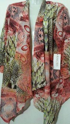 Kaktus Floral Top Medium M 10 12 Short Sleeves Blouse
