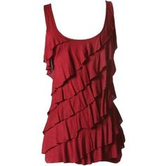 Asymmetrical Ruffle Tank-TANKS-Styles for Less Clothes Womens & Juniors Fashions - Styles For Less