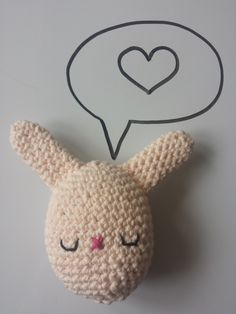 Crochet stuffed Bunny Egg toy, in 100% Cotton, Pastel Pink, Available in other colours by CroShellbyshelley on Etsy