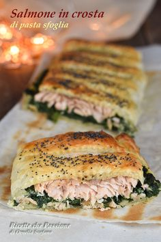 Fish Recipes, Seafood Recipes, Cooking Recipes, Strudel, Best Sandwich Recipes, Yummy Appetizers, Creative Food, Food Presentation, Food Design