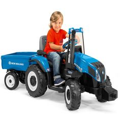 Very Rare Kids Electric Ride on New Holland Tractor & Trailer - 7 k/PH FUUUUUUUN!