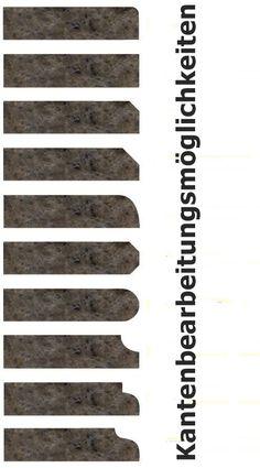 Wählen Sie einer dieser Kanten für Ihre Arbeitsplatte aus.  http://www.werk3-cs.de/