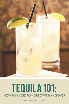 Tequila 101: How to Avoid Tomorrow's Hangover  + 3 Little-Known Tequila Facts // cocktails