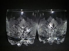 Hand Etching Shot glasses Victorian Ready to ship by daisyclub, $20.00