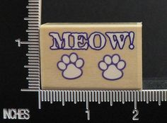 CAT PAW PRINT FOOTPRINT MEOW! rubber stamp BY SUGARLOAF PRODUCTS