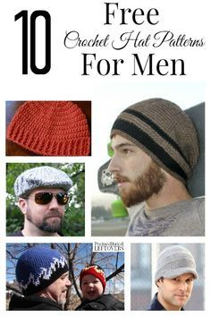 Men can be hard to find gifts for, so why not make a gift instead. To get you started, here are 10 free crochet hat patterns for men!
