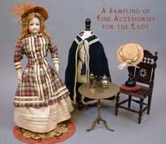 "Stunning 15 5"" Jumeau French Fashion Doll Original Dress Antique Ensemble WOW | eBay"
