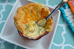 Chicken, Broccoli & Cheddar Pot Pies - Comfort Food Cooking with Armstrong Cheese