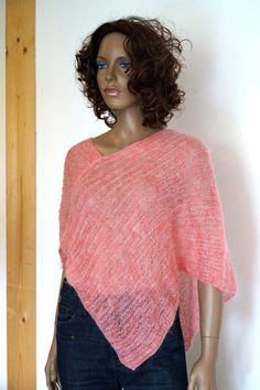 Poncho. Hand knitted poncho for Women Girls. Gift by vintagdesign