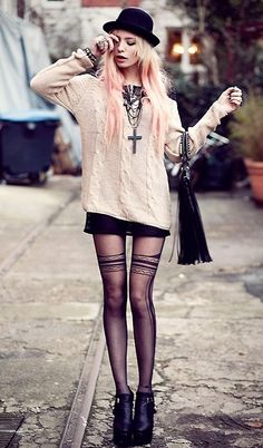 #pastel goth ? Whatever this style is I love it.