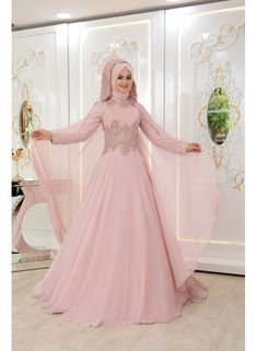 Unique Floor-length maxi designs for girls.Floral maxi designs for weddings.New long frock designs.Beautiful Maxi Dress Designs Collection For Girls.Floral Maxi Dress Design Ideas For Girls. Muslim Wedding Gown, Muslim Evening Dresses, Muslimah Wedding Dress, Indian Wedding Gowns, Hijab Evening Dress, Pakistani Bridal Dresses, Dress Wedding, Fancy Maxi Dress, Hijab Dress Party