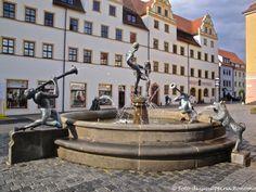 ... fontana con personaggi ...Torgau (D) - 26/06/2014   - © Giuseppina Bonomo -