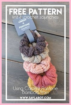 Free Knit & Crochet Scrunchies Patterns - Savlabot - knitting is as easy as . - Free Knit & Crochet Scrunchies Patterns – Savlabot – knitting is as easy as 3 Knitting bo - Crochet Hair Accessories, Crochet Hair Styles, Crochet Accessories Free Pattern, Knitting Patterns Free, Free Knitting, Knit Patterns, Free Easy Crochet Patterns, Knitting Ideas, Kids Knitting