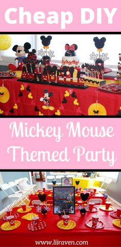 Are your kids obsessed with Mickey Mouse Club House like my kids are? If so, you need to check out this DIY Mickey Mouse themed party. Check out how I threw this cheap birthday party with Mickey Mouse themed decorations, Mickey Mouse themed food, and Mickey Mouse themed games. My kids loved this Mickey Mouse party and yours will too. Don't forget to save it to your party board so you can find it to help you plan.
