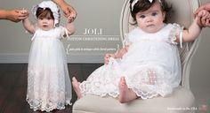 Joli Cotton Christening Romper Dress
