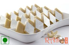 Kaju Katli is a popular Indian sweet dish which is made during the Diwali and other special occasions. Here is an easy Kaju Katli recipe with milk to make at home. Indian Desserts, Indian Sweets, Sweet Desserts, Indian Food Recipes, Diwali Recipes, Indian Dishes, Holiday Recipes, Milk Recipes, Sweet Recipes