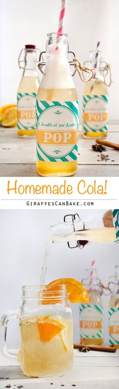 Homemade Cola - A really easy to make homemade cola soda that is bursting with flavour from spices, citrus and lavendar. This is what cola should taste like when its made with real ingredients and not sugar! Smoothie Without Yogurt, Yogurt Smoothies, Breakfast Smoothies, Detox Smoothies, Breakfast Fruit, Vegetable Smoothies, Cola Drinks, Yummy Drinks, Healthy Drinks