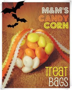 #DIY #Halloween treat bags with M&M! Don't forget to grab these coupons with you!