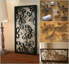 13 Creative And Easy DIY Projects For Your Home - Wonderful Paper Roll Tubes Wall Art that Looks Like Metal