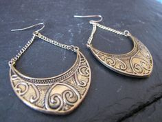 Vintage Gold Boho Earrings by WhiteMagpieJewellery on Etsy, £7.00