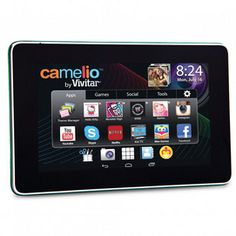 Camelio 7'' tablet offers an advanced tablet user experience in a kid-friendly device. With Bluetooth capability and Classmates®, Chat and Beaming apps already installed, it's as much fun and useful for parents as it is for children.