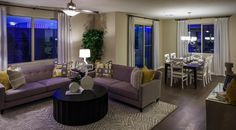 Lillilan model by Richmond American Homes in Cadence. Richmond American Homes, Master Plan, Backyard, Community, Restaurant, How To Plan, Model, Patio