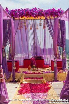 21 ideas wedding ceremony decorations outdoor purple for 2019 Indian Wedding Decorations, Wedding Ceremony Decorations, Wedding Themes, Wedding Colors, Wedding Ideas, Red Purple Wedding, Indian Decoration, Themed Weddings, Outdoor Weddings