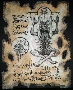 cthulhu larp Necronomicon Fragment AZATHOTH INCANTATIONS
