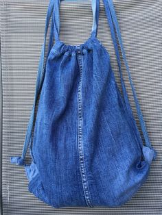 Jeans, Drawstring Backpack, Backpacks, Diy, Fashion, Breien, Dime Bags, Moda, Bricolage