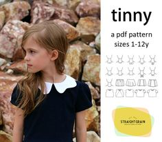 Originally launched in 2013, the Tinny was a vintage style dress with multiple skirt, sleeve and collar options. It was named after the Belgian children's book series Tiny, known for its illustrations of beautiful retro dresses.  Now, the pattern has been relaunched in more sizes, and with many more options. Rather than a retro style pattern, it is now an eclectic pattern which can be used for making dresses in an infinite number of styles.  Tinny closes with a hidden zipper in the back…