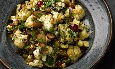 Yotam Ottolenghi's cauliflower, grape and cheddar salad as well as a recipe for buckwheat and chicken pot with apple and thyme