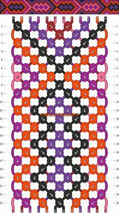 Normal Friendship Bracelet Pattern #4381 - BraceletBook.com
