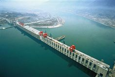 Three Gorge Dam is a hydroelectric project in the world. Dam is located in the Yangtze River, Hubei Province, China. Shanghai, Beijing, Three Gorges Dam, China, Hydroelectric Power, Flood Risk, Concrete Structure, Long Shot, Beautiful Places In The World