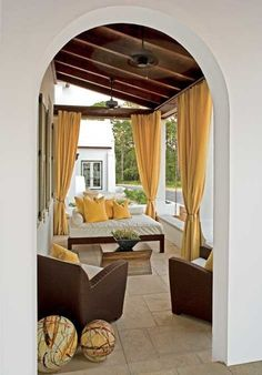 Outdoor drapes are a must