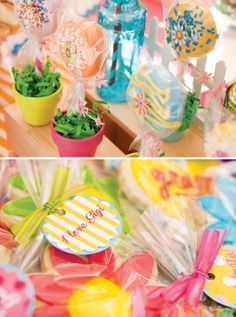 Chocolate dipped oreos .. potted flowers