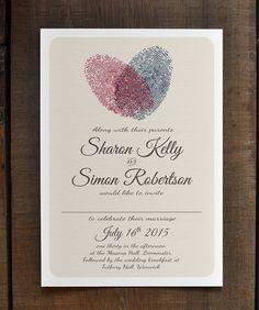 Fingerprint Heart  Wedding Invitation Suite  by FeelGoodInvites, £1.49