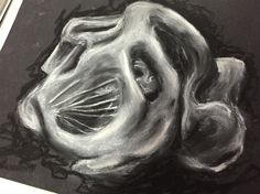 Chalk drawing of sculpture